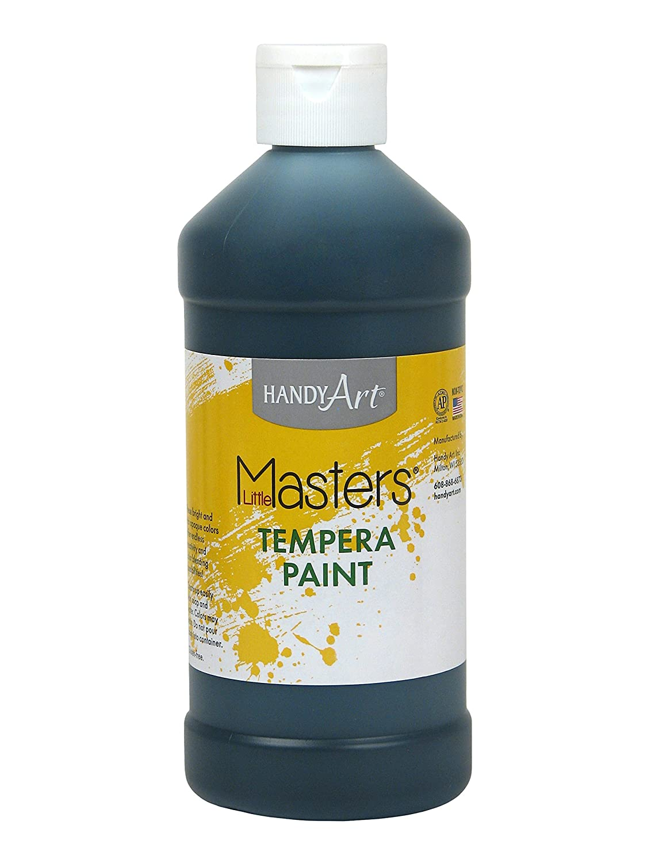 B004DJ688M Handy Art Little Masters Tempera Paint 16 ounce, Black 81hprURo64L