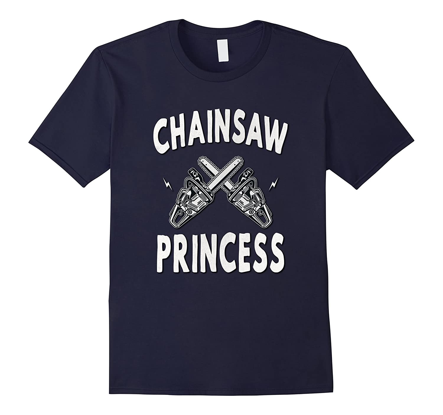 Chainsaw Princess Vintage Scary Horror Movie Love T-Shirt-FL