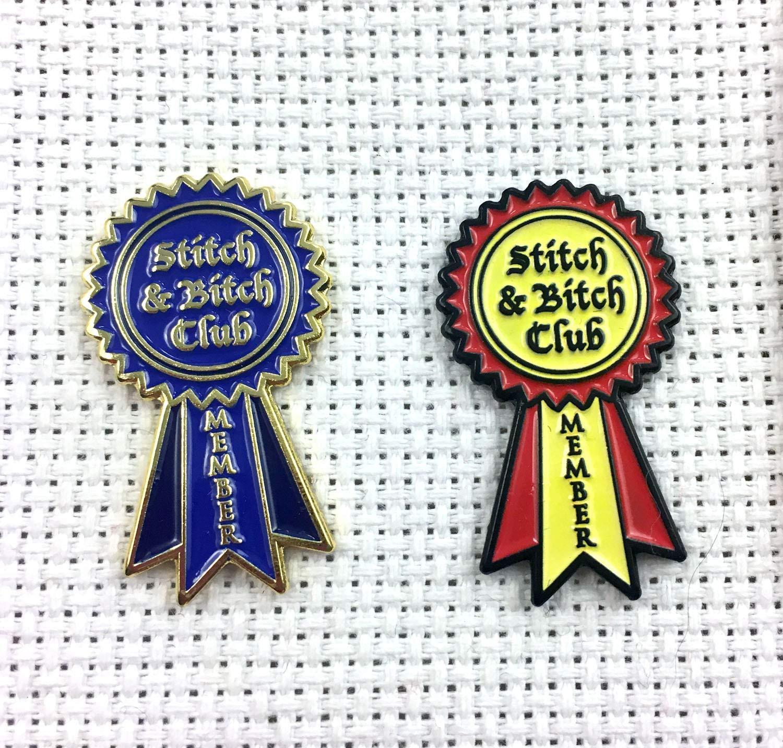 Stitch /& Bitch Club Membership Enamel Pin