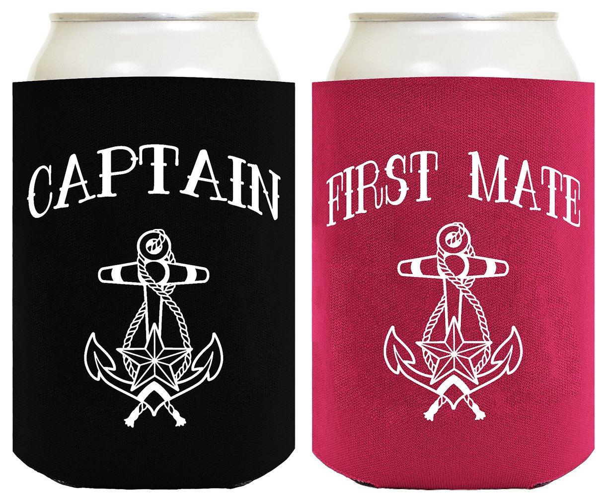Captain and First Mate enfriadores de latas ThisWear A-P-RV-80-01-JIT01-02-Magenta