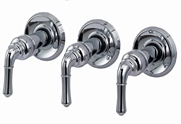three handle tub and shower faucet. Trim Kit for 3 handle Shower Valve  Fit Delta Washerless Chrome Finish