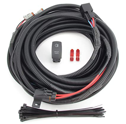 amazon com: truck & suv backup/ auxiliary lighting wiring & switch kit:  automotive