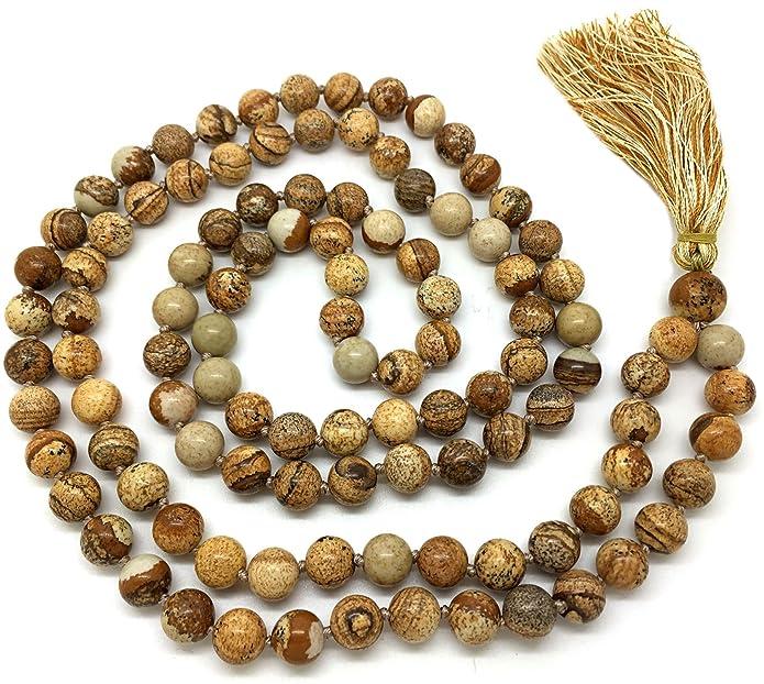 11 opinioni per Givereldi Pietra Preziosa bracciale di perle di mala 108 perline da 6 mm di