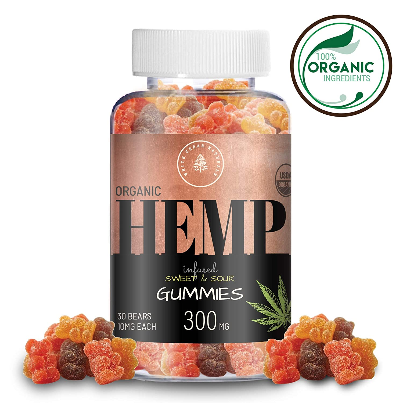 Organic Hemp Oil Extract Gummies - 300MG (10MG/Gummy) - Sweet & Sour