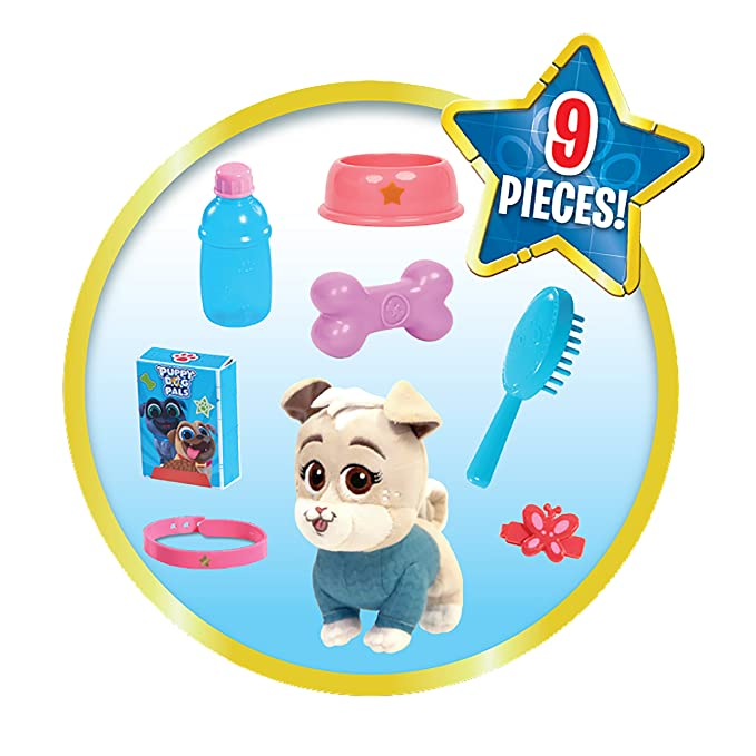 Puppy Dog Pals Keia Groom And Go Pet Carrier Pink Green Blue