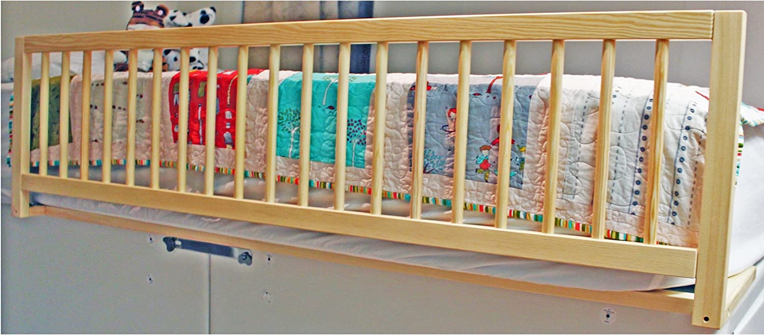 Blue Safetots Extra Wide Wooden Bed Rail