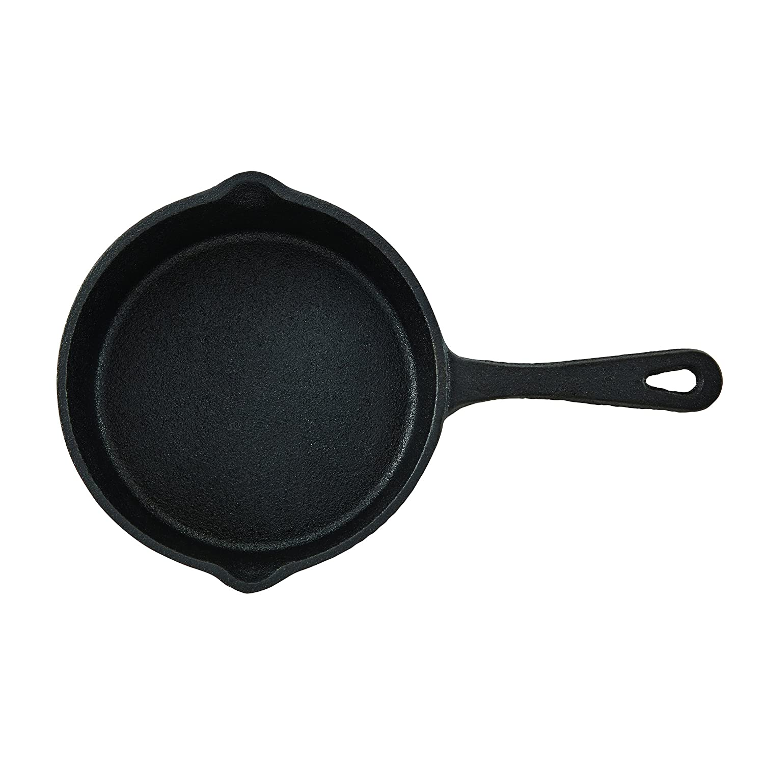 5.4 inch (13.7cm) pre-seasoned cast iron skillet