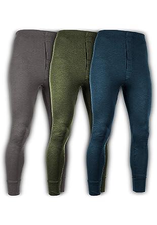 36ec386a610a Andrew Scott Men's 3 Pack Premium Cotton Base Layer Long Thermal Underwear  Pants (3 Pack