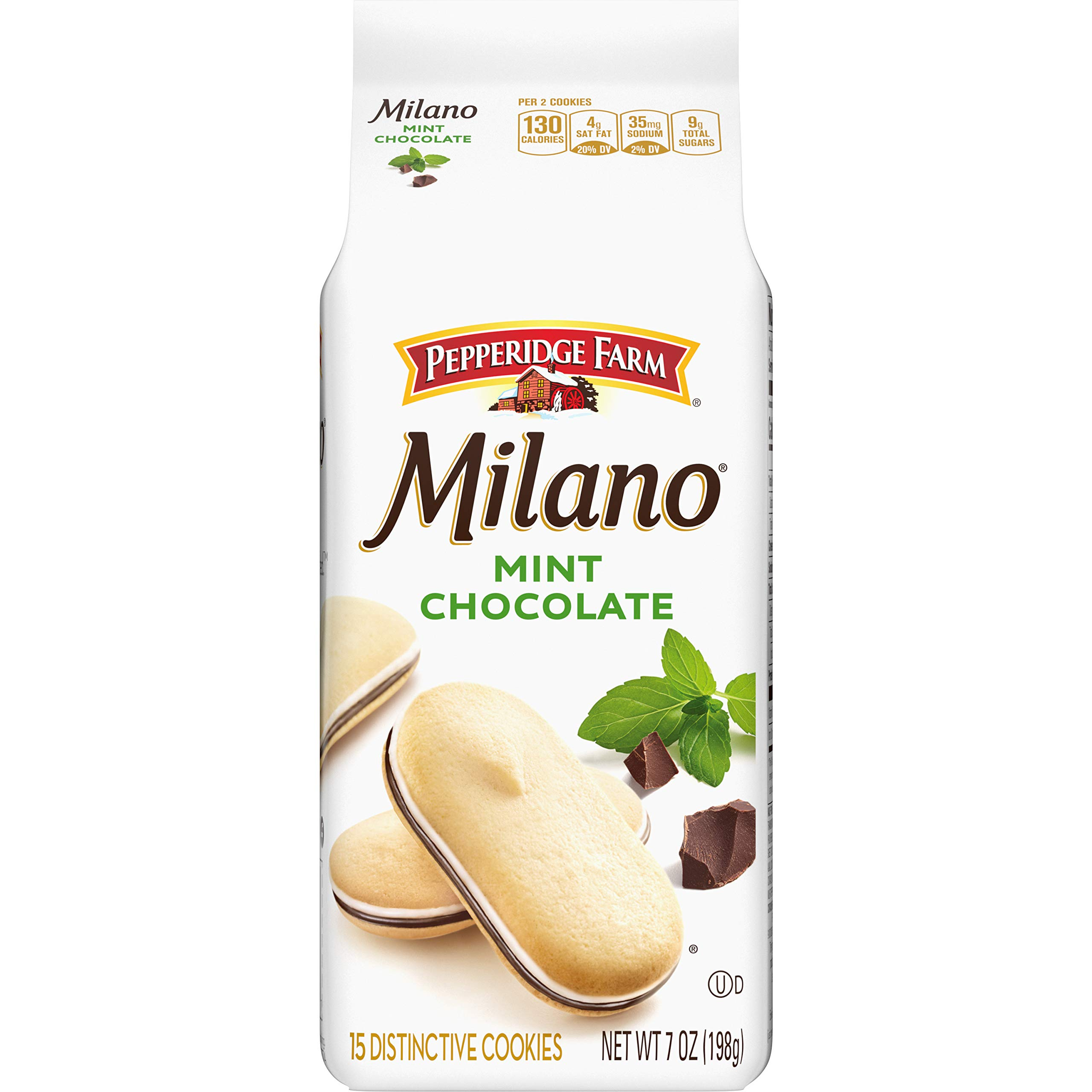 Pepperidge Farm Milano Mint Chocolate Cookies, 7 Ounce Bag