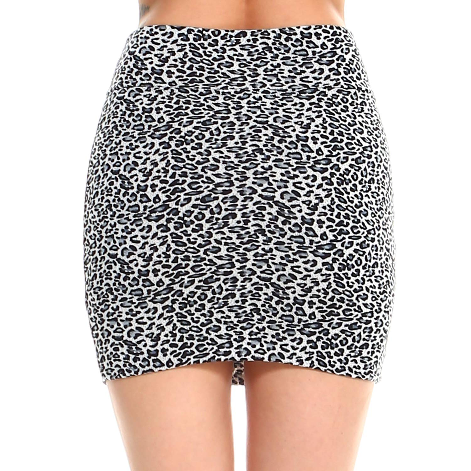 321b7456c9 Fashionazzle Women's Casual Stretchy Bodycon Pencil Mini Skirt larger image