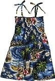 RJC Girl's Hibiscus Hawaiian Islands Hawaiian Smocked Dress