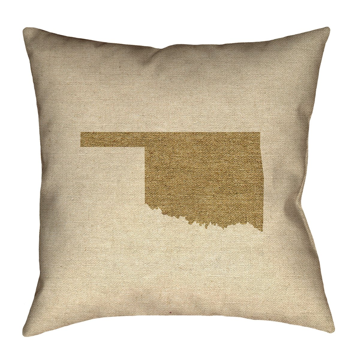 ArtVerse Katelyn Smith 14 x 14 Poly Twill Double Sided Print with Concealed Zipper /& Insert Oklahoma Canvas Pillow