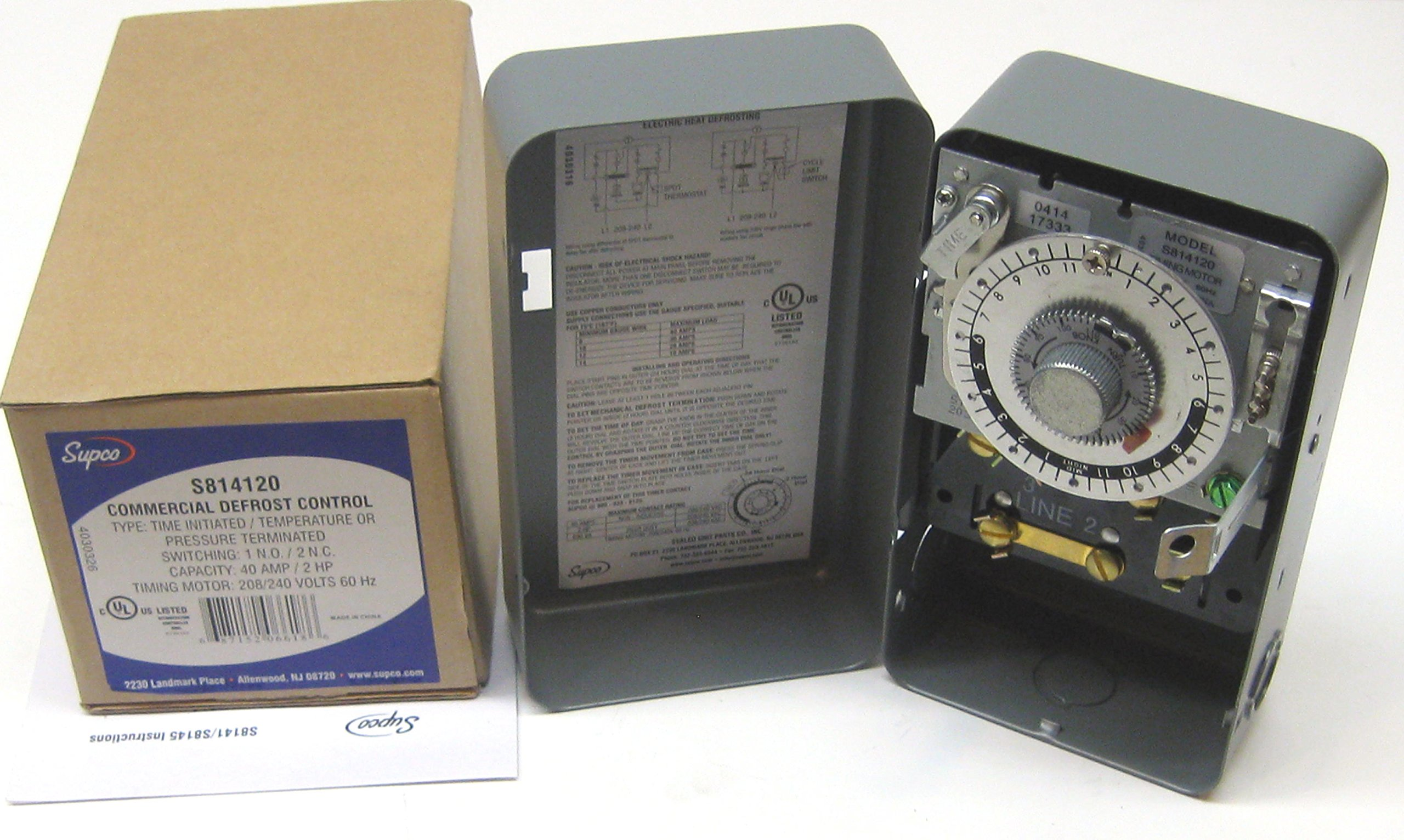 Supco S8141-20 Complete Commercial Defrost Timer (Replaces Paragon 8141-20)