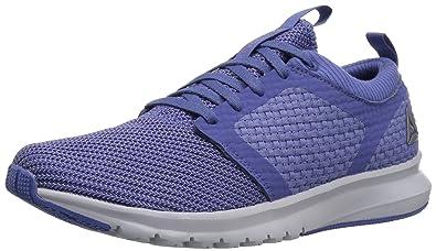 Reebok Women s Print ATHLUX Weave Track Shoe Lilac Shadow Cloud  Grey White Pewter 6924b3ae26