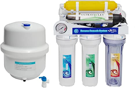 Osmosis inversa Moon UV, 7 etapas. Bomba Manometro, Remineralizador, Ultravioleta y Grifo Lux, Membrana 75 GPD: Amazon.es: Hogar