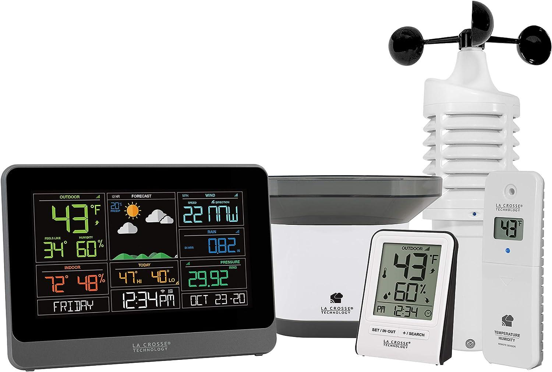 La Crosse Technology 328-10618-INT Wireless WiFi Professional Weather Center, Black