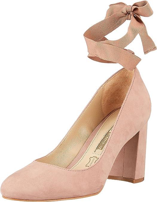 TALLA 38 EU. Buffalo London Zs 7166-16 Nobuck, Zapatos de Tacón para Mujer