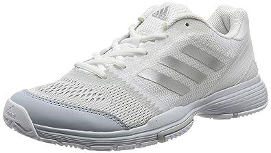 sports shoes c52cf 21871 adidas Damen Barricade Club Tennisschuhe Elfenbein (FTWR Whitesilver  Metalliccore Pink) 36 23
