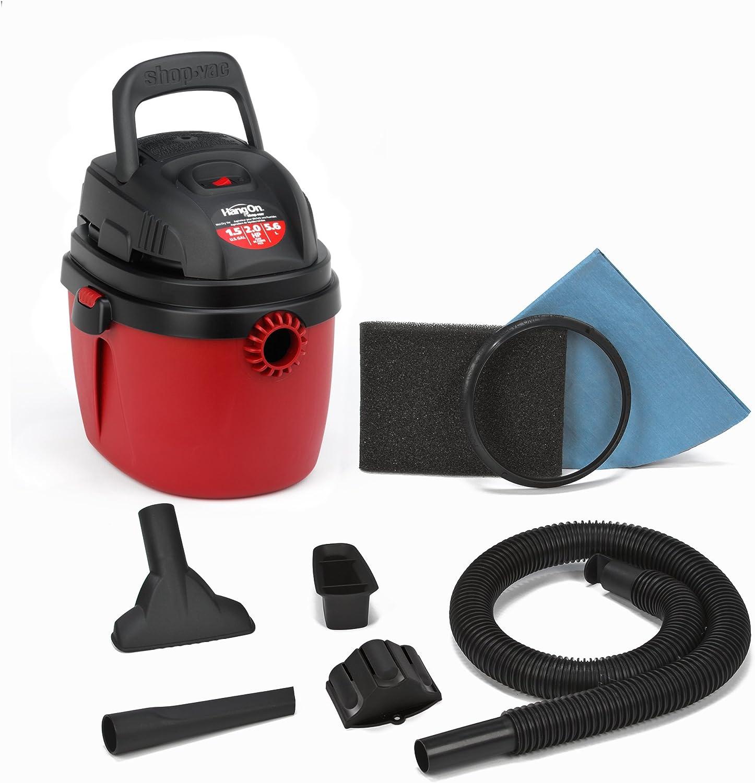 2. Shop-Vac 2030100 1.5-Gallon 2 Peak HP Wet/Dry Vacuum