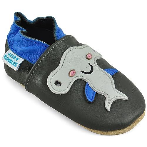 0ee24b0a7cb Zapatos Bebe Niño - Zapatillas Niño Patucos de Cuero Primeros Pasos -  Tiburón Alegre 0-