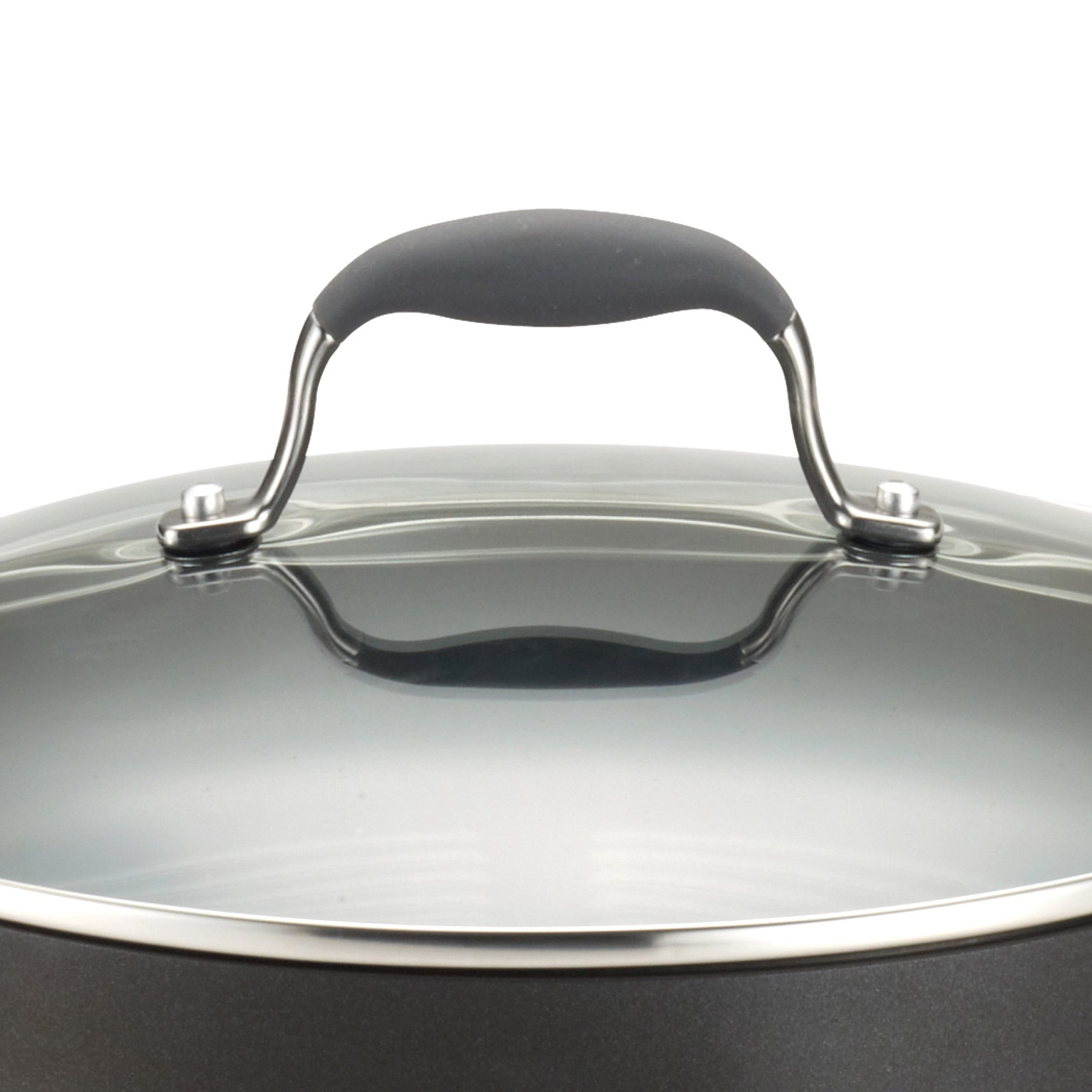 Anolon Advanced Hard-Anodized Nonstick 5-Quart Covered Sauté with Helper Handle, Gray by Anolon