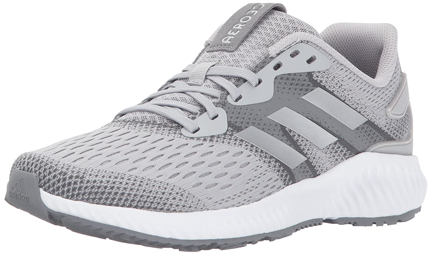 adidas Women's Aerobounce W Running Shoe B01N1JOYKW 6 B(M) US|Grey Two/Metallic Silver/Grey Five