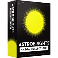 """Astrobrights Mega Collection, Colored Paper, Neon Yellow, 625 Sheets, 24 lb/89 gsm, 8.5"""" x 11"""" - MORE SHEETS! (91676)"""