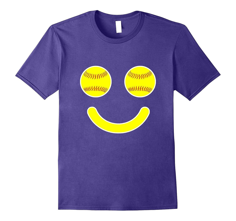 Softball Makes Me Smile | Funny Softball Mom or Player Shirt-Rose