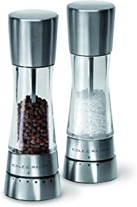 Cole & Mason 31224 Derwent Salt and Pepper Mill Gift Set, Clear/Silver