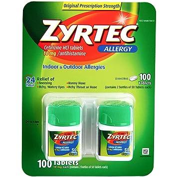 Product of Zyrtec Allergy 10mg Original Prescription Strength Tablets, 100  ct  - Allergy [Bulk Savings]