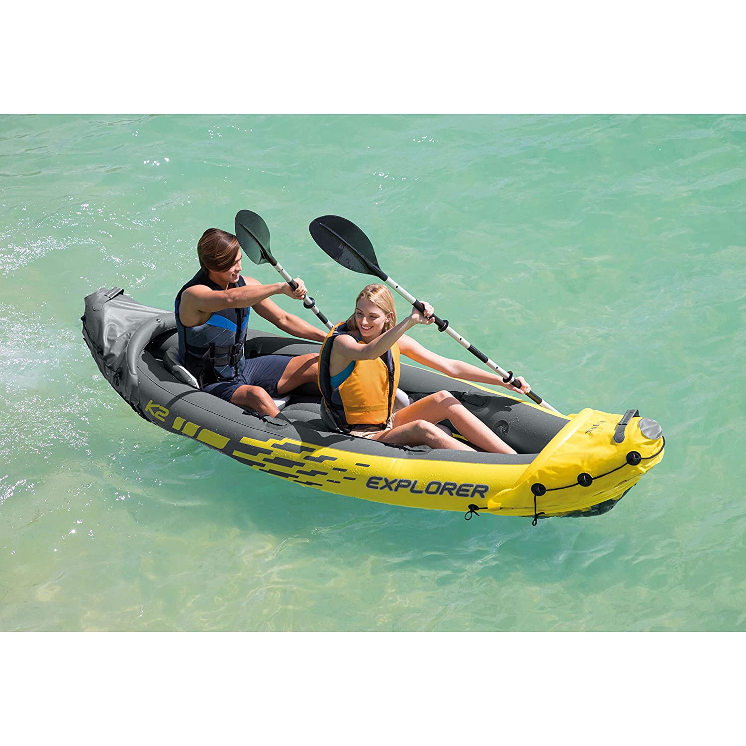 Intex Explorer K2 Kayak - 2 Person Inflatable Kayak Set
