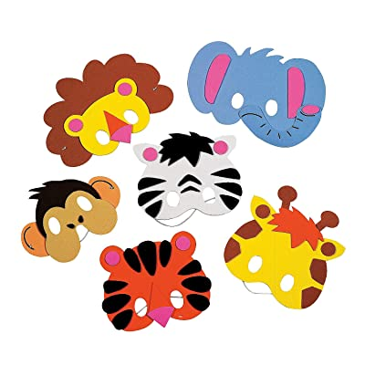 Foam Zoo Animal Masks Craft Kit - Crafts for Kids and Fun Home Activities: Toys & Games