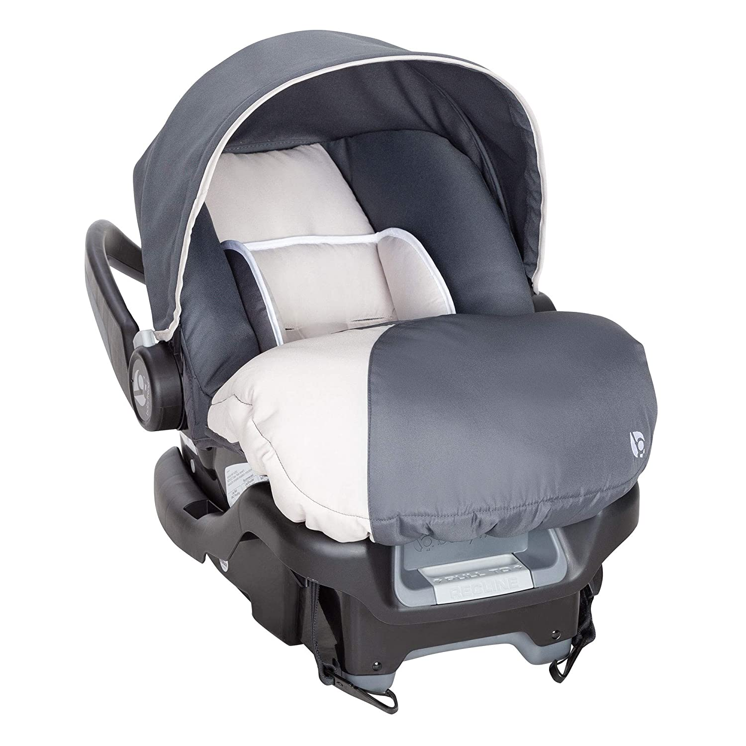 Baby Trend Ally Adjustable 35 Pound Baby Car Seat with Base 2 Pack Magnolia