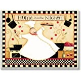 Stupell Home Décor Home Is In The Kitchen Wall Plaque, 10 x 0.5 x 15, Proudly Made in USA
