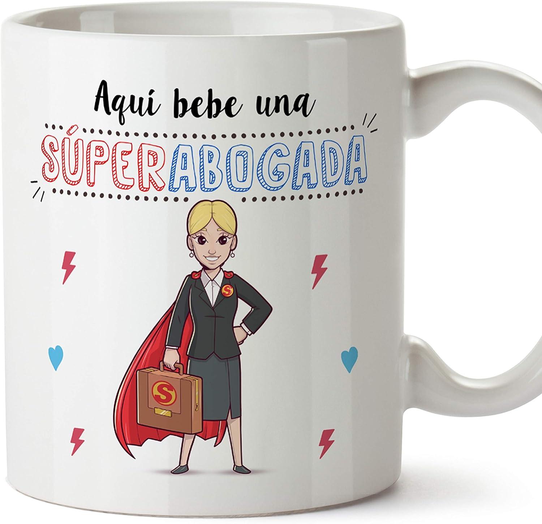 MUGFFINS Taza Abogada (Superhéroes() - Regalos Originales y Divertidos de Derecho