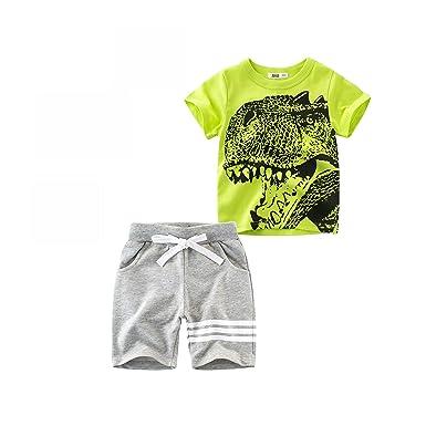 Ropa de Ni/ño Verano K-youth/® 2018 Moda Conjuntos Ni/ño Ropa Bebe Ni/ño Primavera Rayas Camiseta Manga Corta T-shirt Tops y Pantalones Cortos Conjunto de ropa 2-8 A/ños