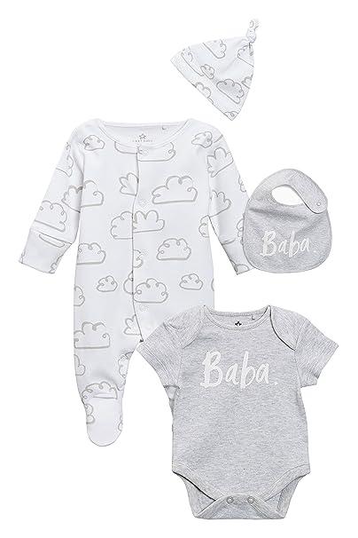 next Bebé-Niños Conjunto De Pijama Tipo Pelele con Eslogan Baba, Body De Mangas