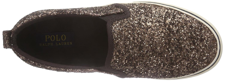 Polo Ralph Lauren Carlee Twin Gore - Zapatillas de casa de Cuero niña, Color marrón, Talla 38: Amazon.es: Zapatos y complementos