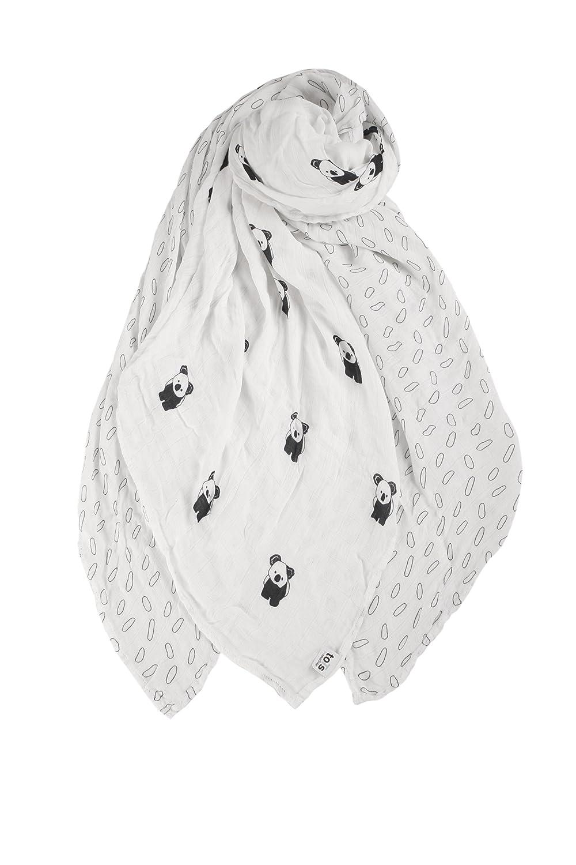 Koala Black /& White toTs 3 Piece Swaddle Wrap Muslins