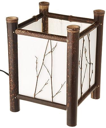 Oriental Furniture Watashi Japanese Table Lamp   Dark