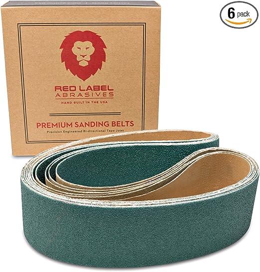2 X 36 Inch Sanding Belts Zirconia Cloth Narrow Sander Belts 18 Pack, 120 Grit