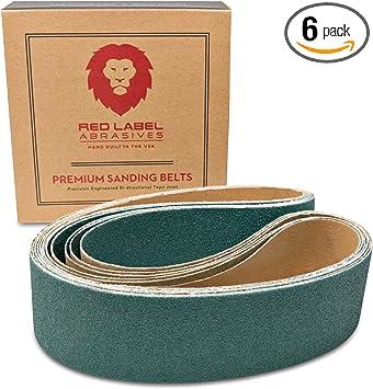 Sanding Belts 2 X 72 Zirconia Cloth Sander Belts 80 Grit 18 Pack