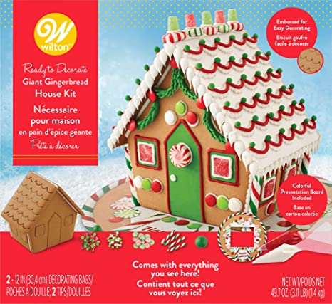 Fantastic Wilton Ready To Decorate Giant Gingerbread House Decorating Kit Download Free Architecture Designs Rallybritishbridgeorg