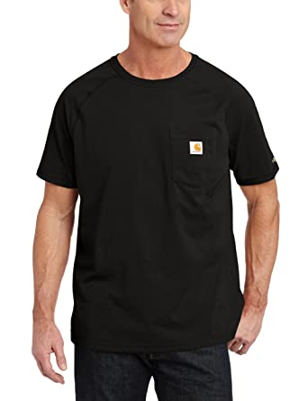 e1e8f4c9960 Carhartt Men's Size Big & Tall Force Cotton Short Sleeve T-Shirt Relaxed Fit ,