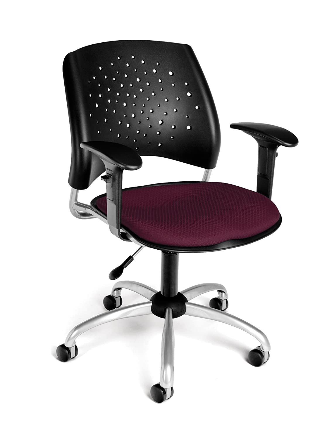 Coral Pink OFM Stars Swivel Chair with Arms
