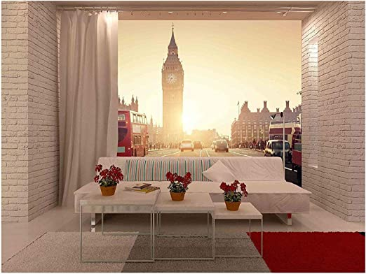 Wall26 Westminster Bridge At Sunset London Uk Removable Wall Mural Self Adhesive Large Wallpaper 100x144 Inches Amazon Com
