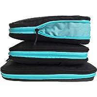 Premium Packwürfel Set mit Kompression | Packing Cubes | Kleidertaschen | Packtaschen Set 4-teilig mit Naßfach und Schmutzwäschefach