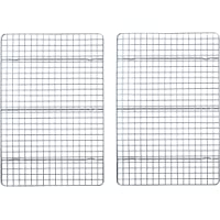 Checkered Chef Cooling Racks For Baking - 10 x 15 Inches - Stainless Steel Cooling Rack/Baking Rack Set of 2 - Oven Safe…