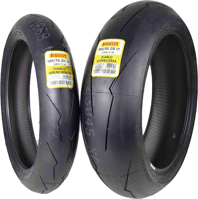 Pirelli Diablo Supercorsa V2 Front /&//or Rear Street Sport Super bike Motorcycle Tires 1x Front 120//70ZR17 1x Rear 200//55ZR17