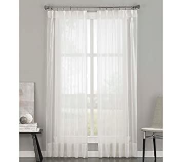 soho voile sheer pinch pleat curtain panel 29 by